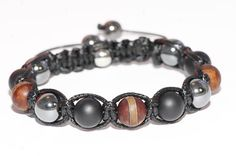 Bracelet  homme pierre Agate/Hématite Crane, Pierre Agate, Bracelets, Men, Etsy, Jewelry, Male Jewelry, Man Bracelet, Skull