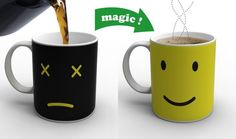 ON/OFF and Monday Coffee Mugs Change Color When A Hot Beverage is Added