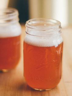 How to make simple yet kickass homemade kombucha, the fizzy fermented tea, with just 4 ingredients! All you need is black tea, sugar, water, and a starter.