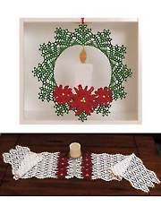 New Crochet Doily Patterns - Poinsettia Doily & Runner
