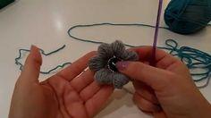 crochet tutorial for flower (puff stitch) ♥ ;