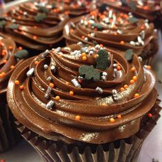 Feeling batty? Come grab a chocolate mousse cupcake this afternoon! #halloween #bats #bat #cupcake #chocolate #mousse #buttercream #spinkles #silver #orange #fall #autumn