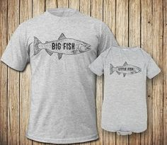 afcd38d4 Dad and Baby Fishing Shirts Dad To Be Shirts, Baby Shirts, T Shirts With