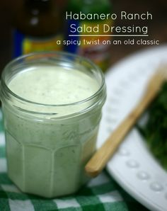 This homemade avocado habanero ranch dressing recipe has all the flavors you'd expect from a classic ranch dressing, with some spicy surprises. Ranch Salad Dressing, Ranch Dressing Recipe, Homemade Dressing, Low Carb Recipes, Healthy Recipes, Chilli Recipes, Paleo Food, Canning Recipes, Classic Salad