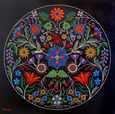 Christi Belcourt – Amazing beader www. Native Beading Patterns, Beadwork Designs, Native Beadwork, Native American Beadwork, Nativity Crafts, Native American Artists, Beading Techniques, Indigenous Art, Aboriginal Art