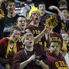 O'Dea fans cheer during the game against Seattle Prep. See more of Seattle Times photographer Ken Lambert's photos from the game.