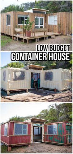 Building A Container Home, Container Buildings, Container Architecture, Shipping Container Home Designs, Shipping Container House Plans, Low Budget House, Container Shop, Tiny House Living, Tiny House Plans