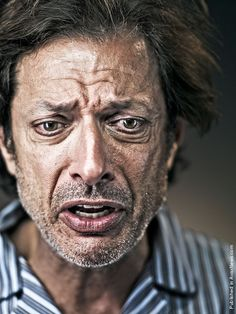 I love this incredibly raw portrait photo of Jeff Goldblum.