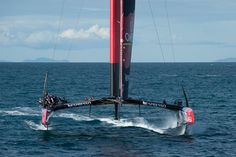 Emirates Team New Zealand sail NZL5 for the last time in New Zealand before being shipped to San Francisco.