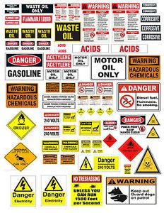 1-24-1-18-WARNING-SIGN-DECALS-FOR-DIECAST-GARAGE-MODEL-CARS-DIORAMAS