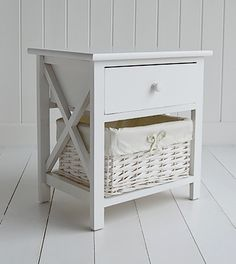 Elegant New Haven White Bedside Table For Small Bedroom