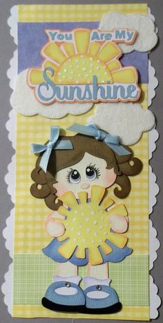 TOOTLEBUG DESIGNS -You Are My Sunshine border paper piecing for scrapbook pages