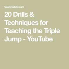 20 Drills & Techniques for Teaching the Triple Jump Track And Field Events, Track Field, Triple Jump, Long Jump, Drills, Cgi, Training, Youtube, Coaching