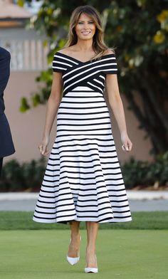 First Lady Melania Trump fashion Fashion Days, Fashion Week, Love Fashion, Summer Wear For Ladies, American First Ladies, First Lady Melania Trump, Looks Style, Glamour, The Dress