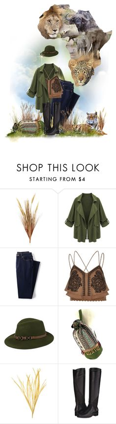 """:)Africa for @sharee64"" by maison-de-forgeron ❤ liked on Polyvore featuring Lands' End, River Island, Kathy Jeanne, Sesto Meucci and tribalover"