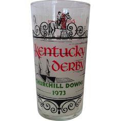 1973 Churchill Downs Kentucky Derby Souvenir Glass