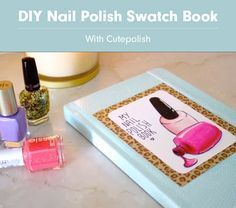 DIY Nail Polish Swatch Book With Cutepolish on YouTube. I love her channel and have been subscribed for a long time!