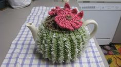 ❄Crochet Tea Cosies, Mug Hug Snugs and Cuppa Cosies. Cactus Tea Cozy I love this!