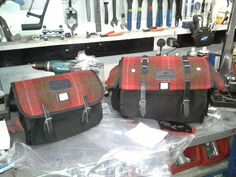 Carradice bags with Harris Tweed