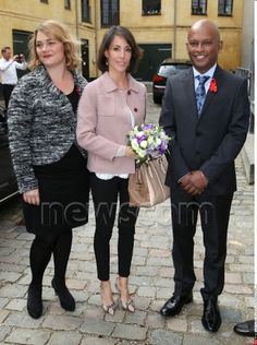 Queens & Princesses - Princess Marie attended a working meeting with the founding of fight against AIDS which took place in Copenhagen.