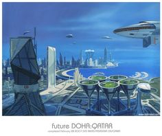 Qatar Steel Corp. recently commissioned futurist and designer Syd Mead to produce a vision of what the company's home city of Doha might look like sometime in the future. Mead produced the above painting depicting a city with huge towering sculptural skyscrapers. He also proposes whale shaped airships gliding around the city. A series of […]