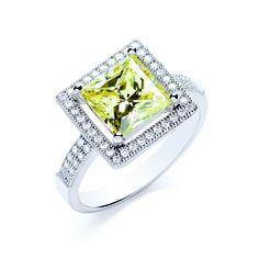 BOUTON princess yellow ring
