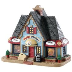 SKU# Released exclusively by Kmart in 2018 as a Lighted Building piece. Christmas Village Collections, Christmas Village Display, Christmas Village Houses, Christmas Villages, Christmas Gifts For Women, Christmas Crafts, Christmas Time, Christmas Ideas, Xmas