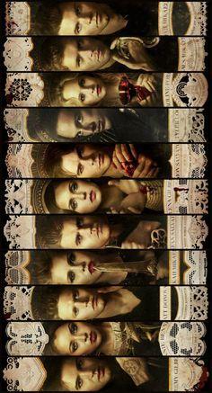 It goes Jeremy, Bonnie, Matt,Rebekah, Stephen,Elena,Damon,Tyler, Caroline, Niklous, and Elijah.