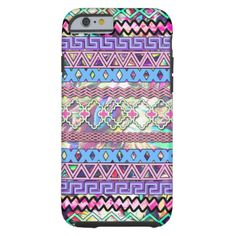 A trendy girly pink purple and blue colorful abstract tribal aztec andes pattern background design. A trendy fashion design features a unique tribal aztec zigzag chevron pattern . The perfect stylish gift idea for her or anyone on any occasion.