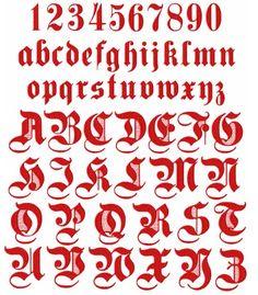 Gothic Alphabet | Alphabet Gothic: Red Graffiti Alphabet Letters