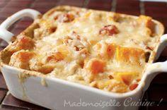 Gratin de butternut au curry - Recette de Cuisine ~ Mademoiselle Cuisine : recettes, astuces...