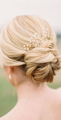 20 Fabulous Bridal Hairstyles for Long Hair: Elegant Lower Updo for Wedding