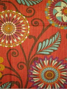 hgtv home fabric urban blossoms harvest hgtv home fabric from hgtv community collection - Home Decor Fabric