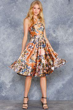 Imperial Dragon Velvet Princess Midi Dress ($130AUD) by BlackMilk Clothing