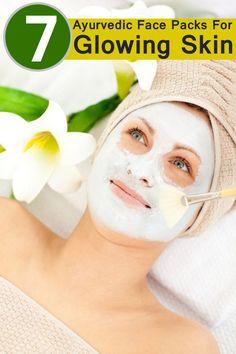 7 Ayurvedic Face Packs For Glowing Skin #skincare #facepacks