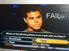 Wow by far biggest epic fail easiest question I ever seen