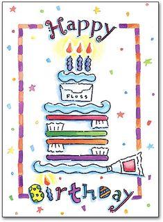 Dental Happy Birthday Folding Card by SmartPractice