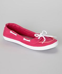 This Fuchsia Boat Shoe by LOLA is perfect! #zulilyfinds $9.99, usually 24.00