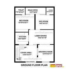 House Plan for 30 Feet by 40 Feet plot (Plot Size 133 Square Yards ...