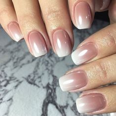 nude ombre nails