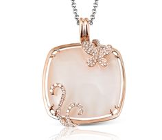14K rose gold .41CTW 29.44MOP Pendant. Available at S.E. Needham Jewelers.