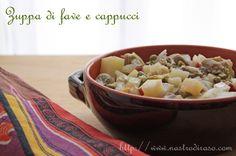 Zuppa di fave e cappucci