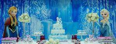Frozen Themed Birthday Party Theme Blue Elsa Kids Girl