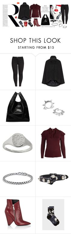 """Red & Black, Winter Faves"" by virtudiaries ❤ liked on Polyvore featuring Wit & Wisdom, MM6 Maison Margiela, Mark & Graham, David Yurman, Carven, Yves Saint Laurent, Paul Smith, Ultimate, BMW and plus size clothing"