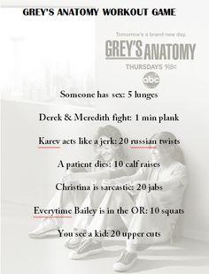 Grey's Anatomy Workout Game