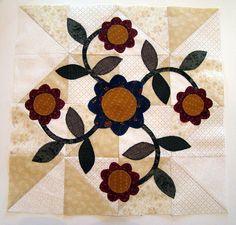 Applique block--Rose of Sharon