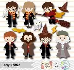 Harry Potter Clip Art, Harry Potter Hermione, Harry Potter Fiesta, Harry Potter Thema, Cumpleaños Harry Potter, Harry Potter Stickers, Harry Potter Printables, Harry Potter Cosplay, Harry Potter Drawings