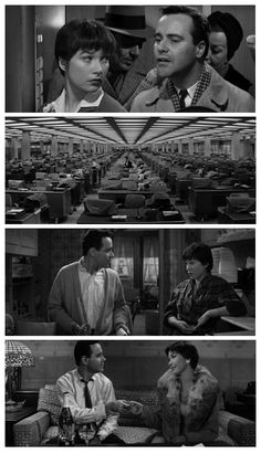 The Apartment.  One of my top five movies.  Shirley MacLaine, Jack Lemmon, and Fred MacMurray as a bad guy.  Billy Wilder directed.