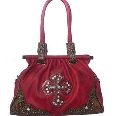 Handbags with the Fleur de Lis symbol are very fashionable. We have Fleur de Lis handbags in many sizes, colors and with various rhinestone embellishments.