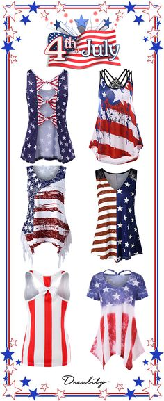 reputable site 3fd71 e0e63 UP TO 50% OFF,American Flag Tank Tops for women.Shop this look